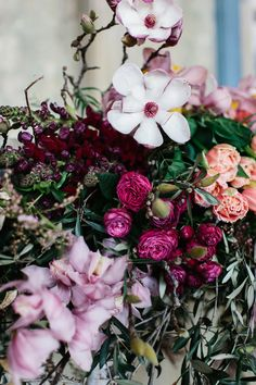 moody pink florals