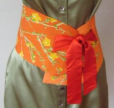 Refashion: Obi Style Belt Made From a Silk Scarf