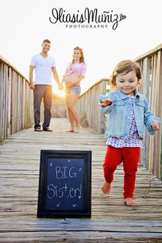 Pregnancy Announcement / Maternity Pictures with Sibling South Padre Island, TX