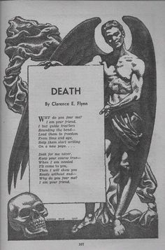 Death, a poem. Via Olivia Frankenstein