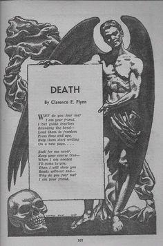 Death, a poem. Via Olivia Frankenstein