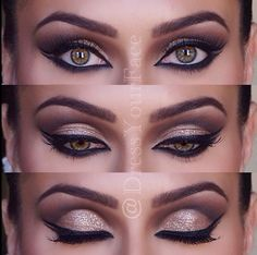 The Bridal Makeup, Smokey Metallic Eyes