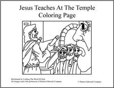 Luke 4:14-30 Coloring Page http://www.calvarywilliamsport