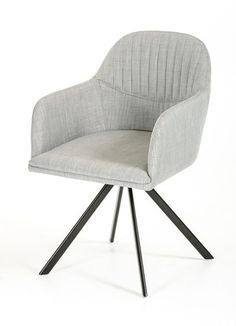 Grey Fabric Dining Chair.