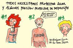 #OjoConElSol o con el que te pone el #ProtectorSolar