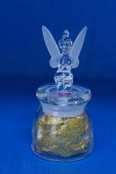 Tinker Bell Figurine Crystal Jar Pixie Dust Holder Disney Parks Arribas Bros