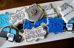 SimplySweet Treat Boutique: Police Themed Decorated Cookies