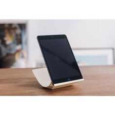 Beautifully designed tech accessory, with curved sustainable wood: Yohann iPad Air Stand
