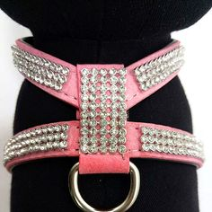 Fashion Diamond Pet Harness Dog Collar Bling Rhinestone PU Leather Dogs Collars…