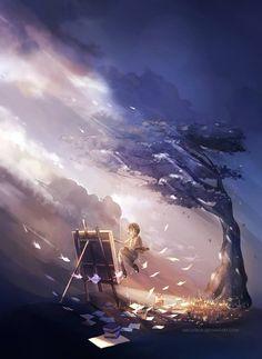 Manga Art, Anime Art, Manga Anime, Fantasy Books, Fantasy Art, Dark Fantasy, Yuumei Art, Comics Illustration, Graphisches Design