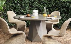 Concrete Outdoor Furniture, Concrete Table Top, Concrete Patio, Outdoor Furniture Sets, Outdoor Rooms, Outdoor Living, Outdoor Decor, Floor Pillows And Poufs, Build Your Dream Home