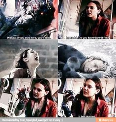 Scarlet Witch, this scene killed me. RIP Quicksilver