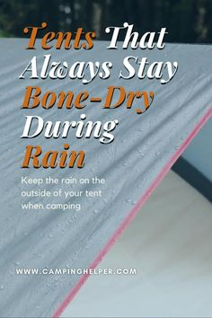Some rainflys will only have partial coverage over the ceiling of the tent but will include extensions over the windows or doors. Others will fully cover the entire tent.  #camping#tents#tentcamping Couples Camping, Best Tents For Camping, Cool Tents, Family Camping, Camping Ideas, Tent Camping, Rain On Tent, Camping For Beginners, Waterproof Tent