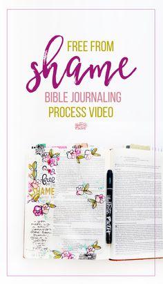 Free From Shame Bible Journaling Video
