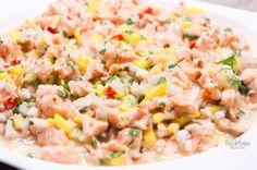 Receta de ceviche de salmón con mango