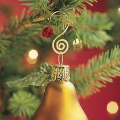 Keep your favorite ornaments safely on the tree by replacing flimsy hooks with beaded ornament hangers. #SolutionsPinIt