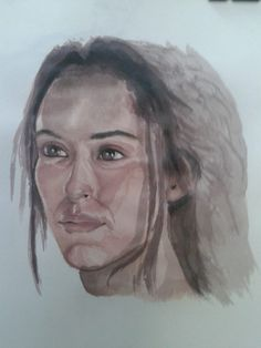 Quick Water Color Sketch of Oona Chaplin – Talisa Maegyr – Game of throne Fame