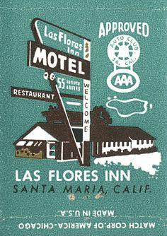 Las Flores Inn Motel, Santa Maria, California by jericl cat, via Flickr
