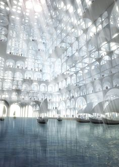 "Image 3 of 17 from gallery of Sou Fujimoto Proposes ""Mirage-Like"" Landmark for Middle East. Photograph by Sou Fujimoto Architects"