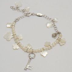 Battiquore Milano | Bracciale in argento 925 Perle coltivate di acqua dolce Madreperla naturale