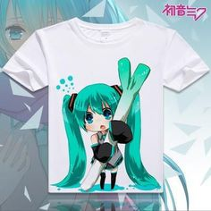 Hatsune Miku Short Sleeve Anime T-Shirt V14