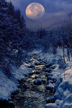 heaven-ly-mind:  Winter Creek,  Edited in Photoshop,  by Peter From on 500px. (Trimmimg)