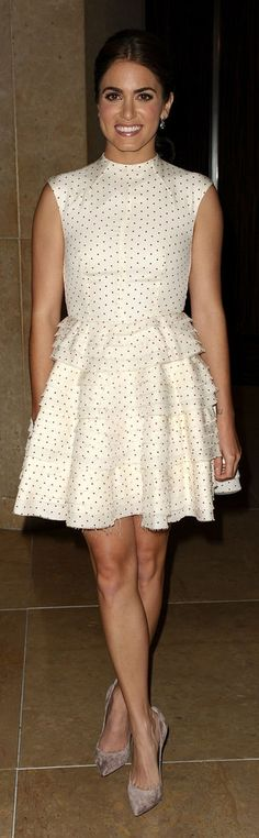 Nikki Reed Looks Sophisticated in White and Polka Dots Fashion News, Fashion Beauty, Fashion Show, Nikki Reed Wedding, Celebrity Beauty, Celebrity Style, Street Chic, Street Style, Red Carpet Gowns