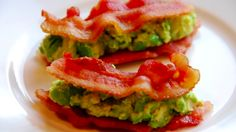 A good Paleo snack: Bacon and Guacamole