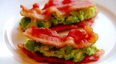 A good Paleo snack: Bacon and Guacamole