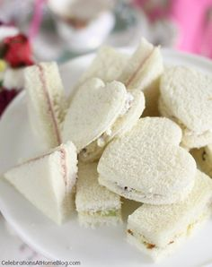 tea party sandwiches (recipes for various fillings)