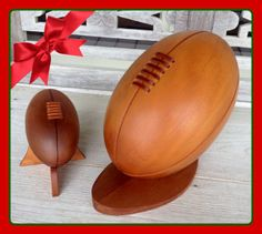 Day 8:   Kauri Wood Rugby Balls: Handmade in Northland from carbon dated Swamp Kauri, these rugby balls (available in small and large sizes) are the perfect gift for a rugby lover in your household.  Available for immediate shipping.  Large rugby ball is $800, small is $400 (GST inclusive).  Shipping domestically is $20, internationally is $65.