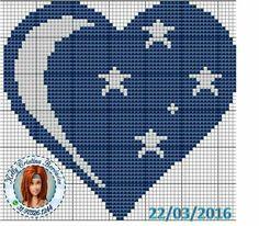 Cross Stitching, Cross Stitch Embroidery, Embroidery Patterns, Heart Patterns, Loom Patterns, Cross Stitch Designs, Cross Stitch Patterns, Perler Bead Emoji, Graph Paper Art