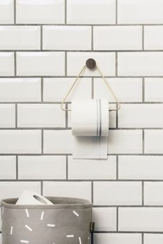 Clever Spaces — Brass Toilet Paper Holder