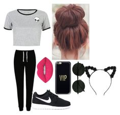 """""""lazzy shoping day"""" by lexiekelly on Polyvore featuring George, WithChic, NIKE, Casetify and Lime Crime"""