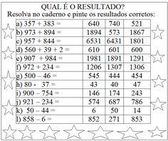 """""""EDUCAR PARA A VIDA"""": ADIÇÃO COM RESERVA E SUBTRAÇÃO COM REAGRUPAMENTO - 3º ANO.                                                                                                                                                                                 Mais"""