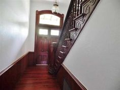 Home offers original hardwood flooring (heart of pine), lots of character and charm! Flooring, Old House Dreams, Hardwood Floors, House, Stairs, Home, Entry, Home Decor