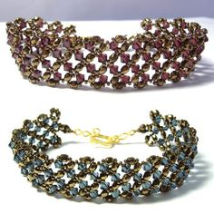 Exquiste Anthropologie Traviata White Beaded Rhinestone Golden Bracelet