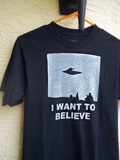 X-files I want to Believe T shirt Mens or Womens at kreepshowkouture on etsy