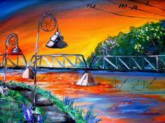 phoenix park acrylic painting print 8x10 by AffordableARTbyRonda