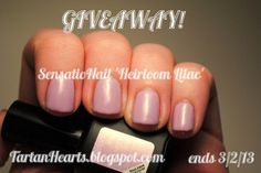 GIVEAWAY! Click through for entry. @SensatioNail 'Heirloom Lilac' gel nail polish