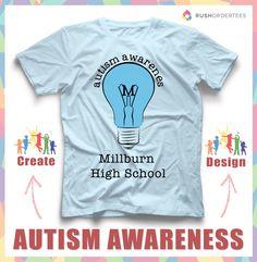 7d2ef290 Autism Awareness custom t-shirt design idea! Create a autism custom t-shirt