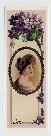 Violets Lady...what a great bookmark!
