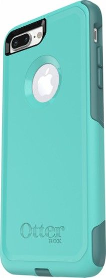 OtterBox - Commuter Series Case for Apple® iPhone® 7 Plus - Aqua/ Green - Front Zoom