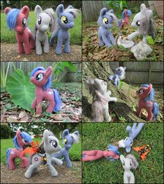Posable Needle Felted Pony Trio by SnowFox102 on DeviantArt