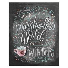 Marshmallow World -  Print #Christmas #Gifts #Holiday