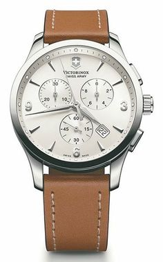 Beat it up a little, because the whole thing will only get better with age. Men's chronograph watch ($795) by Victorinox, macys.com