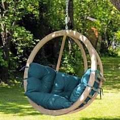 Offers 3 different sizes of Globo Hammocks/Hanging Chairs: Kids Globo Hammock Globo Swing Chair Globo Royal Hanging Chair Click the link to explore the collection. Wooden Garden Swing, Garden Swing Seat, Patio Swing, Wooden Swings, Hammock Chair Stand, Hanging Swing Chair, Swinging Chair, Swing Chairs, Hanging Chairs