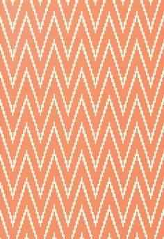 Love this wallpaper - would be fab in a nursery. Schumacher Kasari Ikat in Terracotta