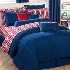American Denim Full Comforter Only by Springfield Bedding. Save 8 Off!. $119.99. Accessory products sold separately.. American Denim Comforter Only - Full Size. Soft and Durable. Made in the USA.. Double needle stitching for design and durability. 100 Percent Stone Washed Denim on Comforter Face and Reverse. Authentic stone washed denim. 100 percent cotton. Made in the USA.