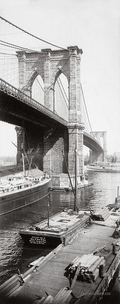 "new-york-obsession: ""Brooklyn Bridge: New York City, New York 1896 """